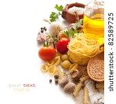 italian pasta with tomatoes ... | Shutterstock . vector #82589725
