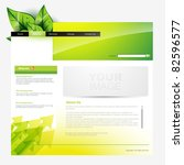 eco style vector web template | Shutterstock .eps vector #82596577