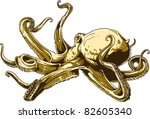 vector octopus | Shutterstock .eps vector #82605340