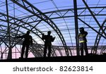 human figures builders in the... | Shutterstock . vector #82623814