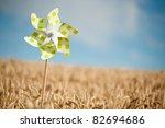 Pinwheel In A Field