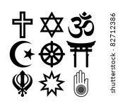 set of religious signs and... | Shutterstock . vector #82712386