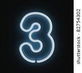 neon font number three | Shutterstock . vector #82754302