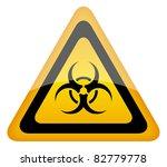biohazard warning sign | Shutterstock . vector #82779778