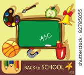 colorful school background with ... | Shutterstock . vector #82785055