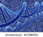 3d render of dna on blue... | Shutterstock . vector #82788403