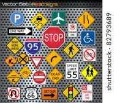 image of various road signs... | Shutterstock .eps vector #82793689