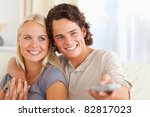 close up of a couple watching... | Shutterstock . vector #82817023