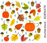 autumnal texture with leaves ... | Shutterstock .eps vector #82896370