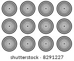 stylized licorice circles | Shutterstock . vector #8291227
