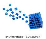 three dimension blue multitude... | Shutterstock . vector #82936984