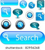 searching blue vector glossy... | Shutterstock .eps vector #82956268
