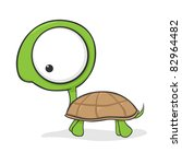 cute cartoon turtle with huge... | Shutterstock .eps vector #82964482