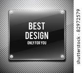 black glossy plate on metal... | Shutterstock .eps vector #82972579