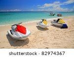 Colorful Jetski On The Beach O...