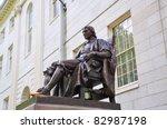 John Harvard Statue In Harvard...