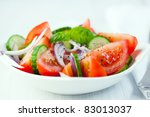Tomato Salad With Cucumber And...