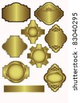set of vector gold labels which ... | Shutterstock .eps vector #83040295