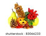 some colorful autumn fruits... | Shutterstock . vector #83066233