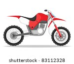 abstract white background with isolated racing bike