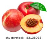 Peach Isolated On White...