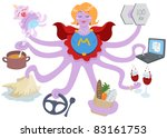 a vector illustration of an... | Shutterstock .eps vector #83161753