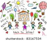 school doodle   Shutterstock .eps vector #83167534