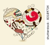 vector picture of abstract heart | Shutterstock .eps vector #83189734