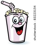 Happy Milkshake Character - stock vector