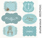 vintage design frames and... | Shutterstock .eps vector #83254261