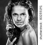 sexual female portrait   Shutterstock . vector #83255191