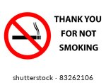 no smoking | Shutterstock .eps vector #83262106