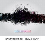 grunge banner with an inky... | Shutterstock .eps vector #83264644