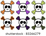 skull and crossbones collection ...   Shutterstock .eps vector #83266279