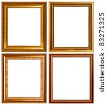 gold and wood frame collection...   Shutterstock . vector #83271325