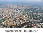 Luftbild, Berlin Zentrum - stock photo