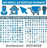 200 small everyday   business... | Shutterstock .eps vector #83318428