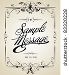 vintage vector calligraphic set