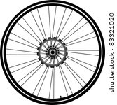 bike wheel with tire and spokes ... | Shutterstock .eps vector #83321020