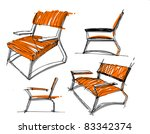 sketches of furniture | Shutterstock .eps vector #83342374
