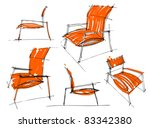 sketches of furniture | Shutterstock .eps vector #83342380