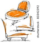 sketches of furniture | Shutterstock .eps vector #83342392