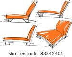 sketches of furniture | Shutterstock .eps vector #83342401