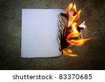 the paper was a fire burning   Shutterstock . vector #83370685