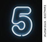 neon light font number five | Shutterstock . vector #83379493