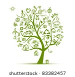 green ecology tree concept for... | Shutterstock .eps vector #83382457