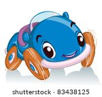 vector illustration  cute race... | Shutterstock .eps vector #83438125