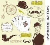 a gentlemen's club | Shutterstock .eps vector #83455291