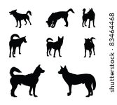 Stock vector dog silhouettes 83464468