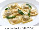 homemade ravioli pasta with... | Shutterstock . vector #83479645